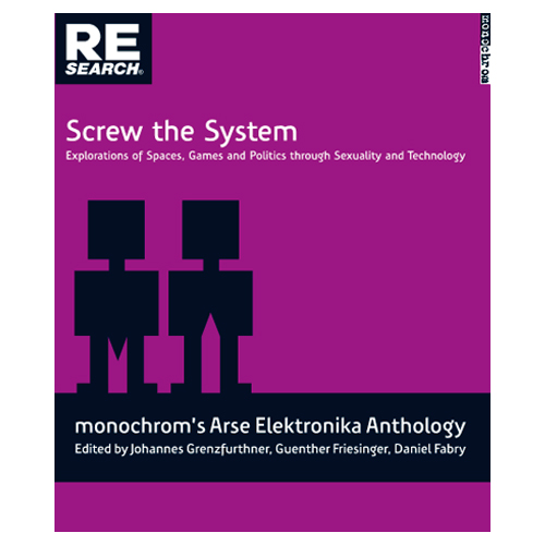Book Cover, Screw the System Monochrom Anthology
